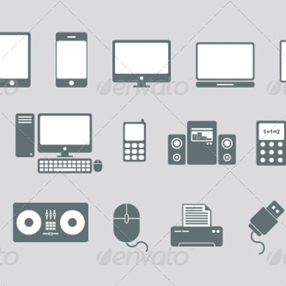 Technology and Media Vector Icons