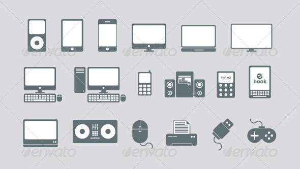 Technology and Media Vector Icons - Technology Conceptual