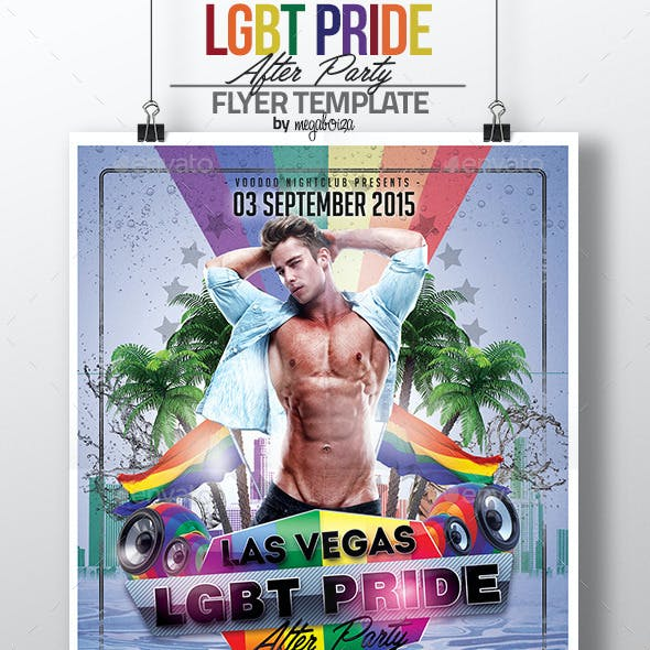 LGBT Pride After Party Flyer / Poster Template