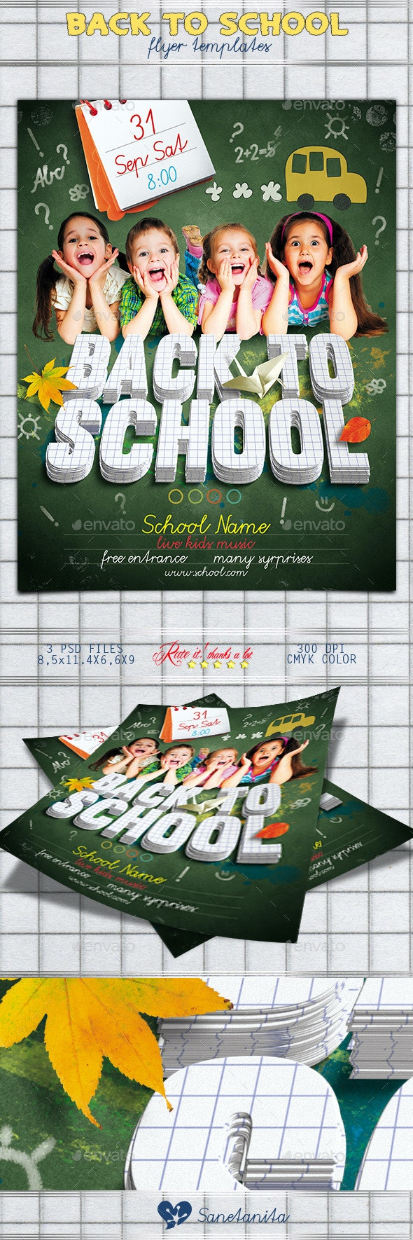 Back to School Flyer 2 - Holidays Events