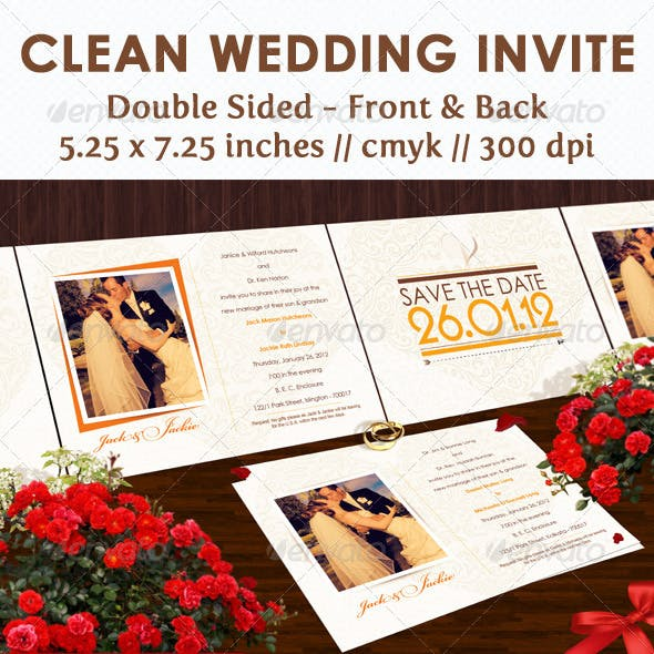 Clean Wedding Invite