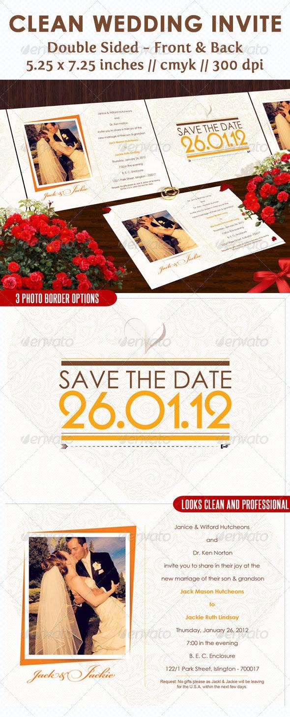 Clean Wedding Invite  - Weddings Cards & Invites