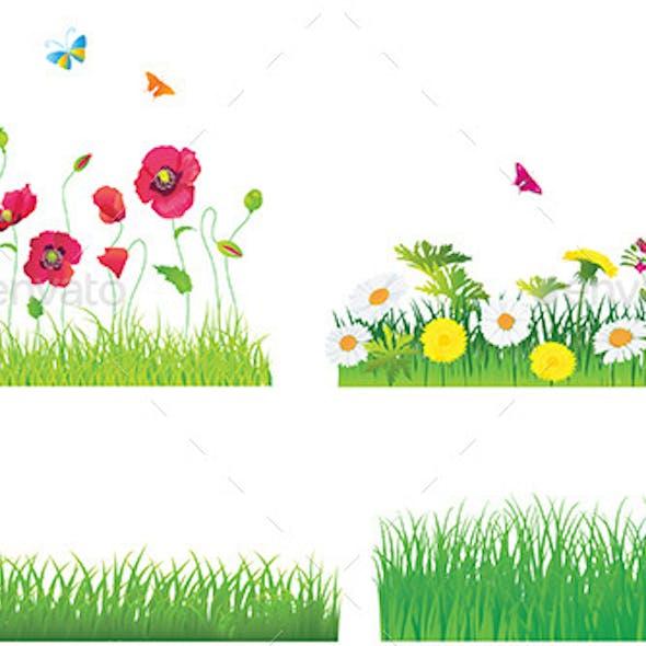 Grass and Flower Set