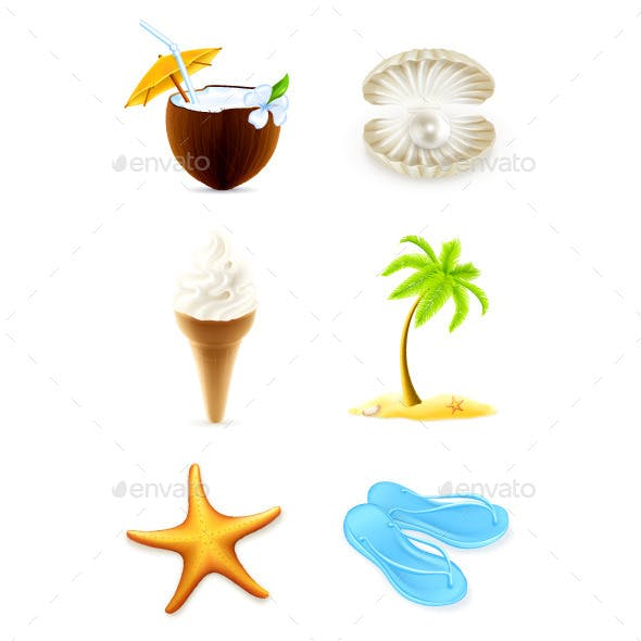 Summer Illustration Icons