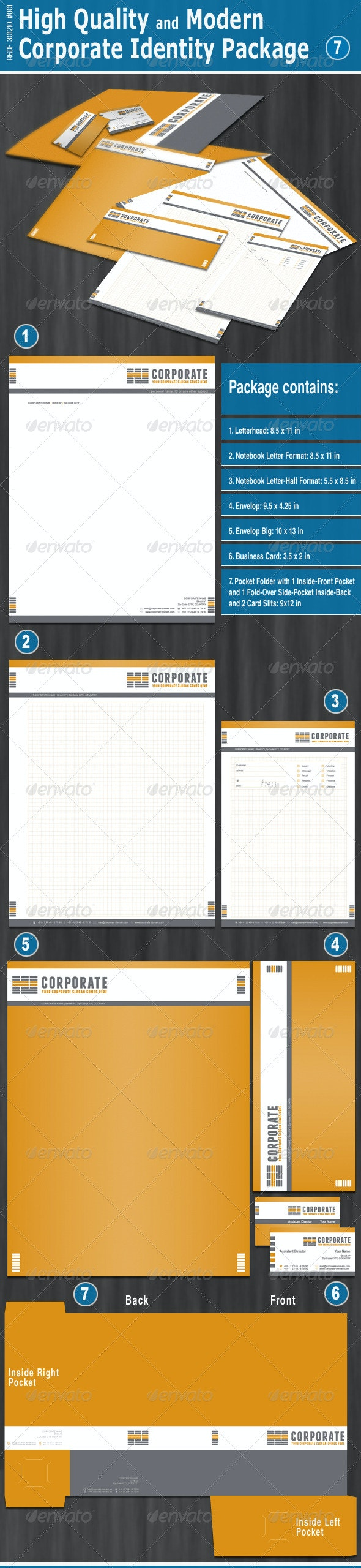 High Quality and Modern Corporate Identity Package - Stationery Print Templates