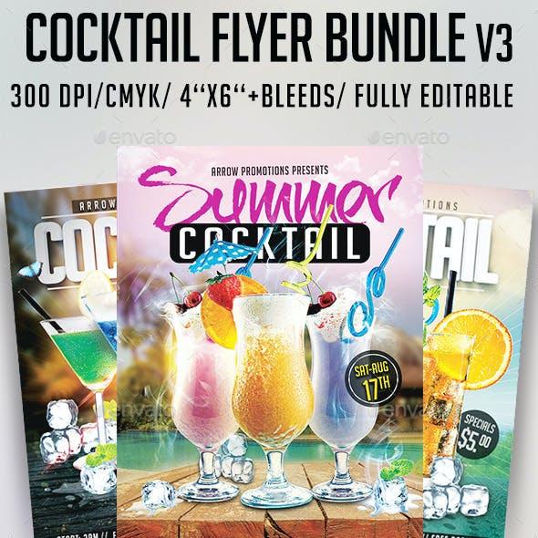 Cocktail Flyer Bundle V3