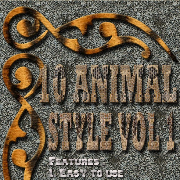 10 Animal Text Effect Style Vol 1