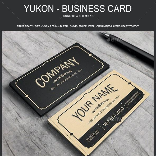 Yukon - Vintage Business Card