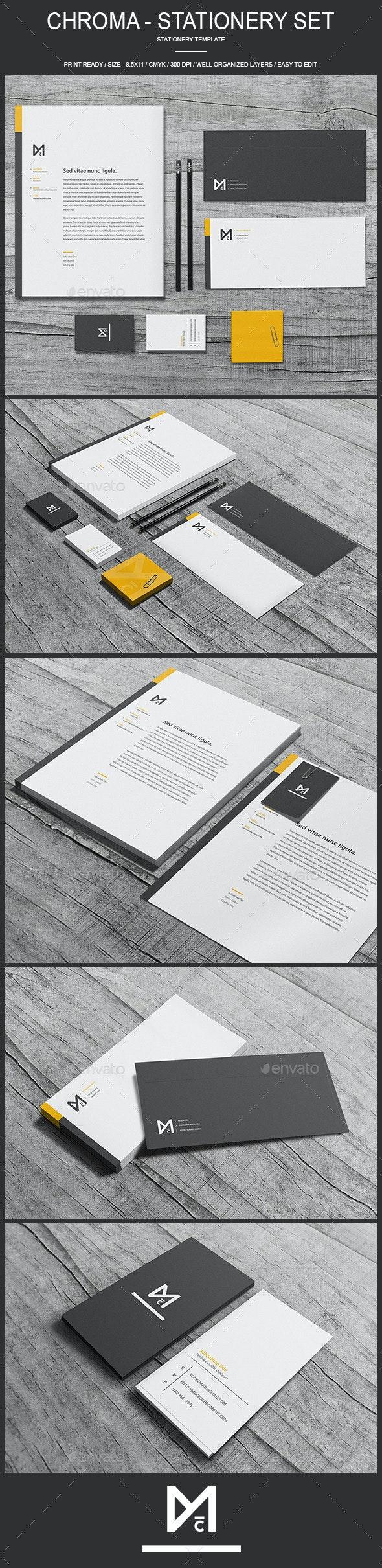 Chroma - Stationery Template - Stationery Print Templates