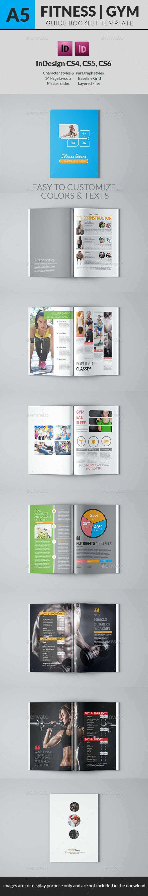 Fitness Lovers Guide Book Template - Informational Brochures