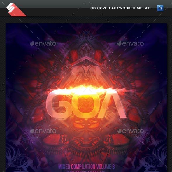 Goa Trance volume 3 - CD Cover Artwork Template