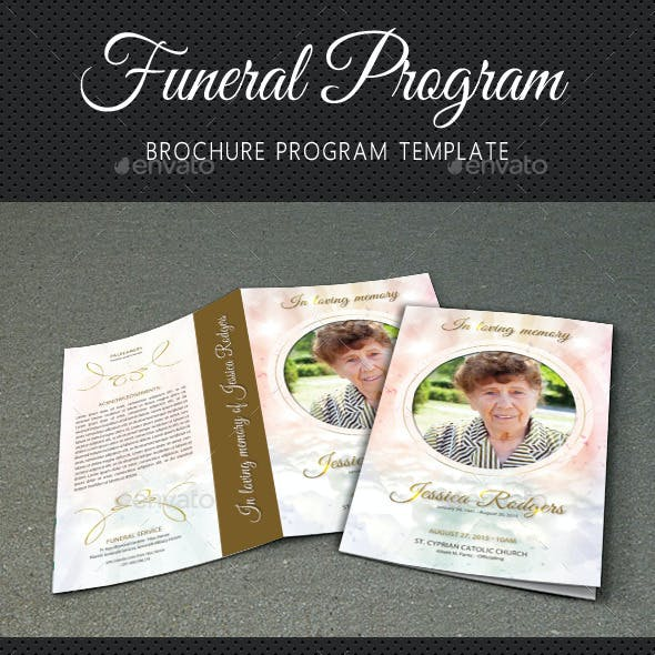 Funeral Program Brochure Template V03
