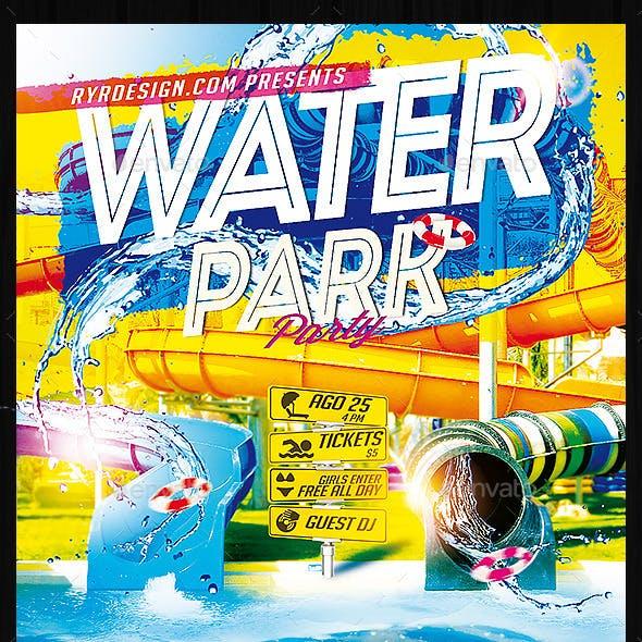 Water Park Flyer PSD