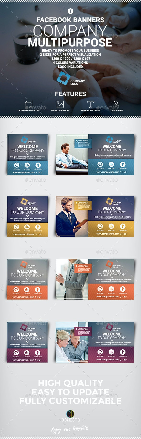 Facebook Banners - Corporate Multipurpose - Banners & Ads Web Elements