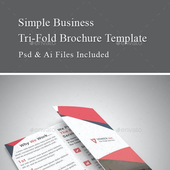 Simple Business Tri Fold Brochure