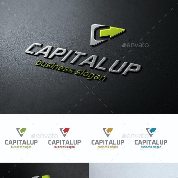 Capital Up Arrow C Logo Letter