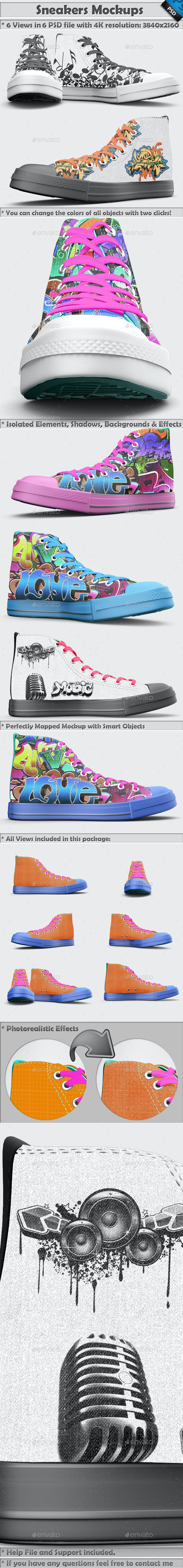 Sneakers Shoes Mockup - Miscellaneous Apparel