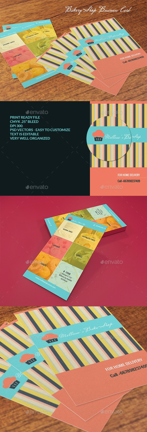 Bakery Shop Business Card - Business Cards Print Templates