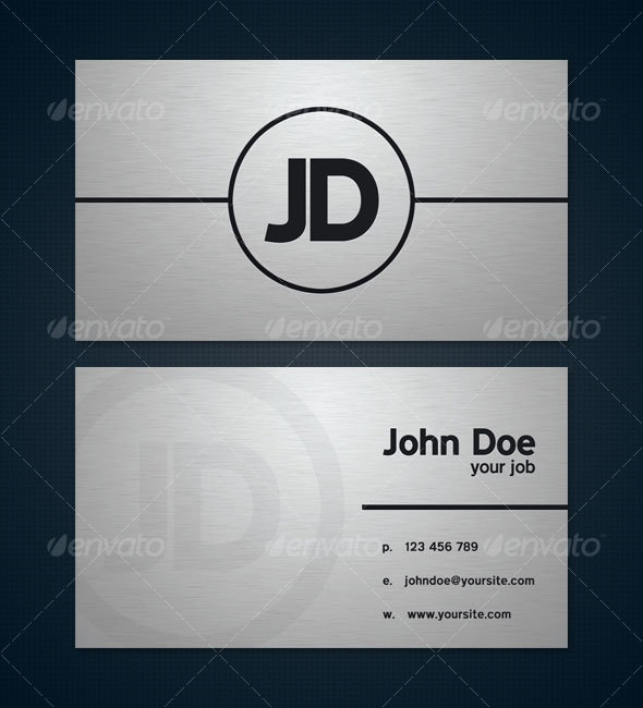 Brushed Metal Business Card - Business Cards Print Templates