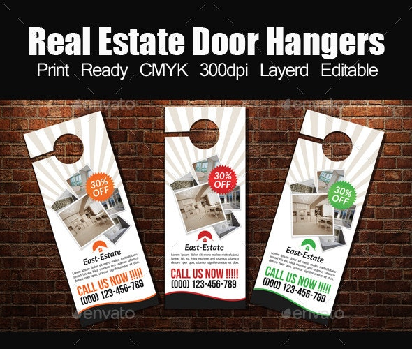 Real Estate Door Hanger Template By