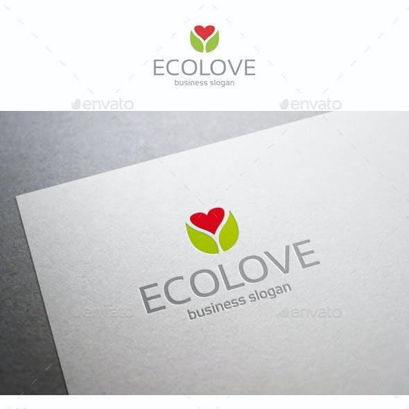 Eco Love Care Heart Logo