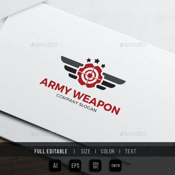 Army Gun - Military Weapon Logo