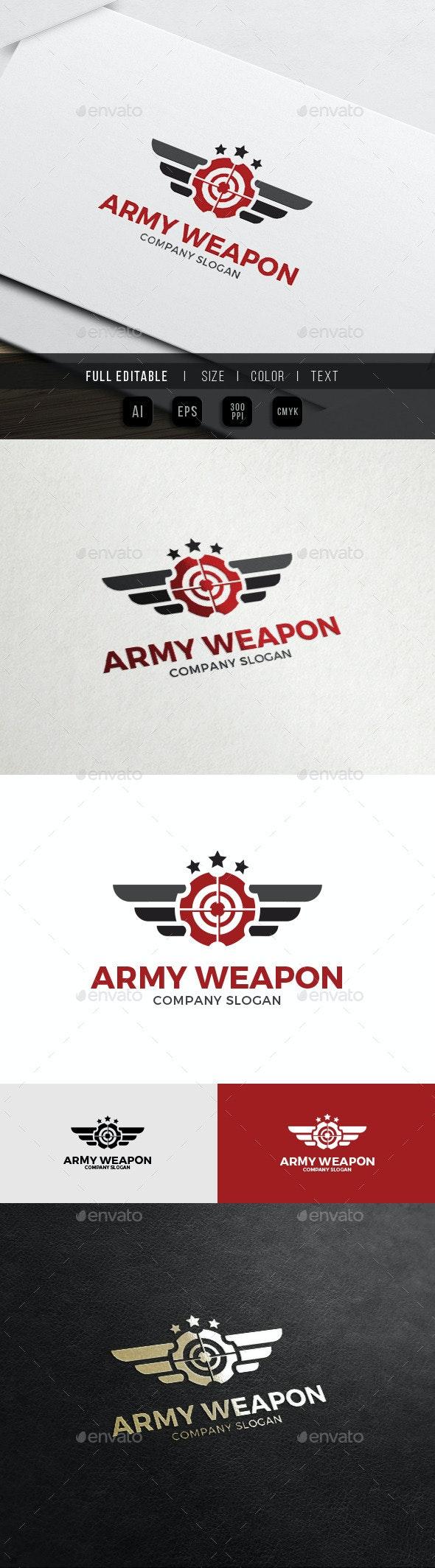 Army Gun - Military Weapon Logo - Symbols Logo Templates