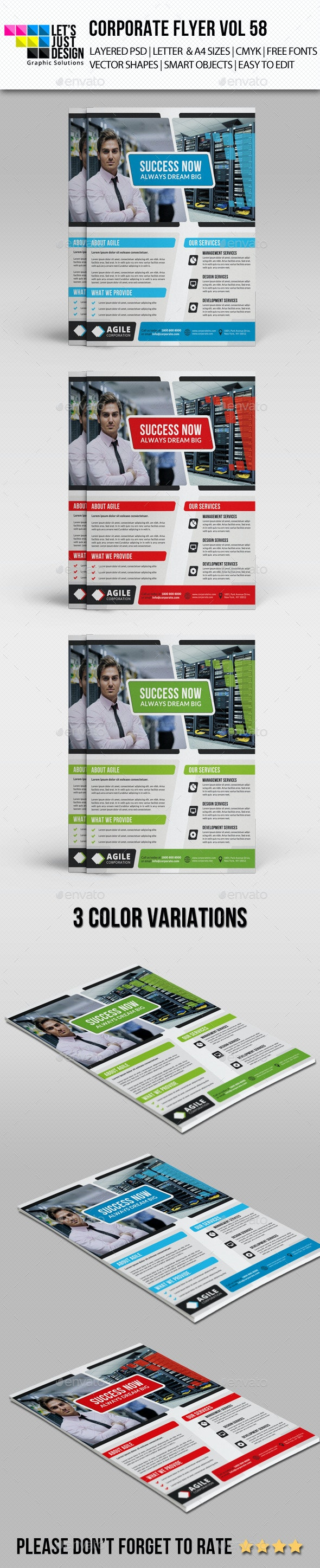 A4 Corporate Flyer Template Vol 58 - Corporate Flyers