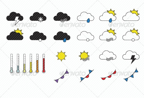 Weather Forecast Icons - Seasonal Icons