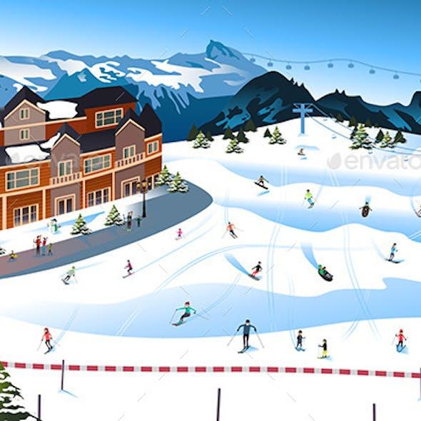Scene in a Ski Resort