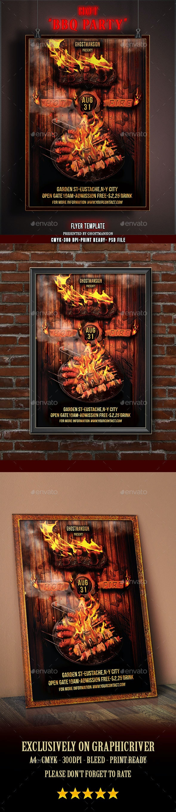 BBQ Party Flyer Template V2 - Holidays Events
