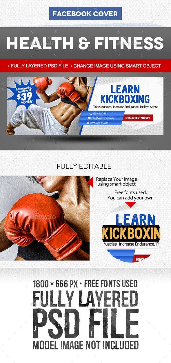 Sport & Fitness Facebook Cover: Kickboxing - Facebook Timeline Covers Social Media