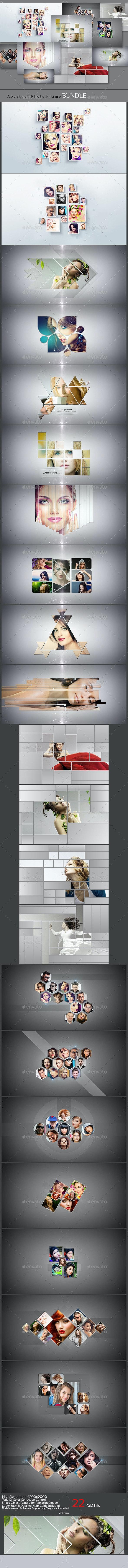 Abstrakt Photo Frame Bundle - Photo Templates Graphics