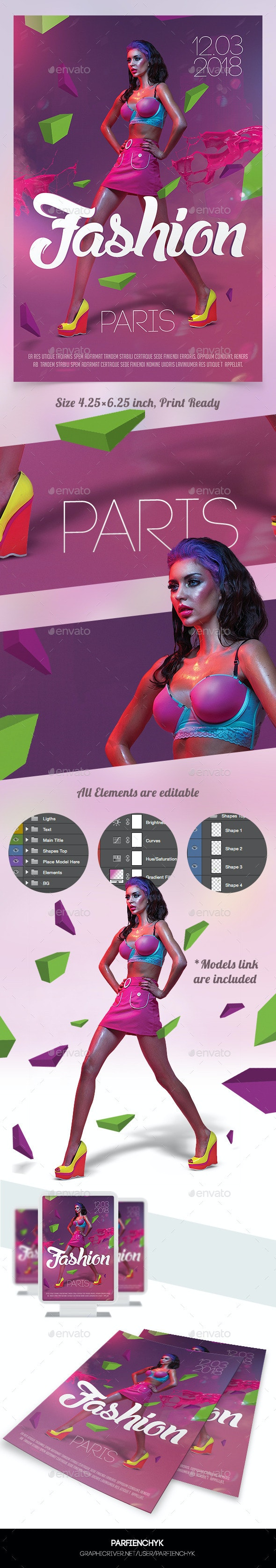 Fashion Show Flyer Template - Clubs & Parties Events