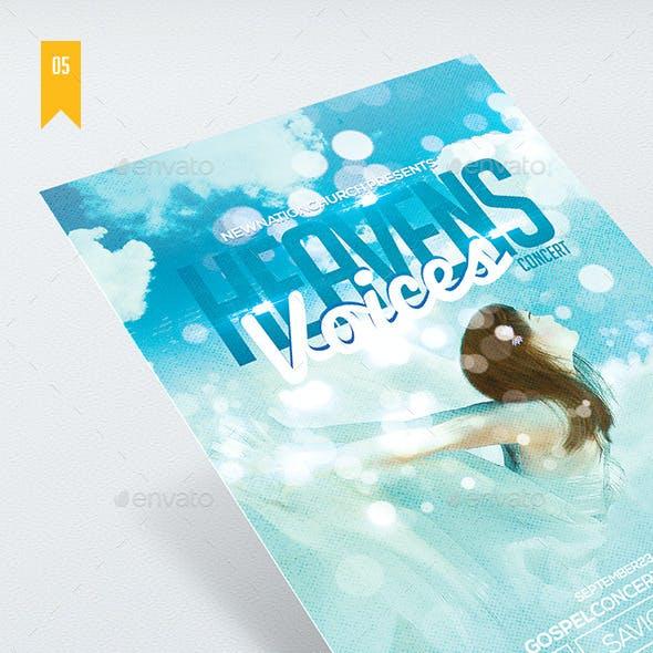 Heaven's Voices - Church Flyer