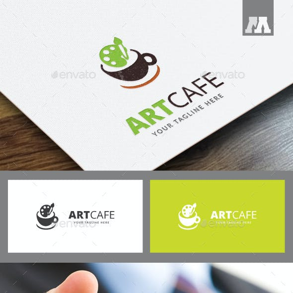 Art Cafe Logo Template