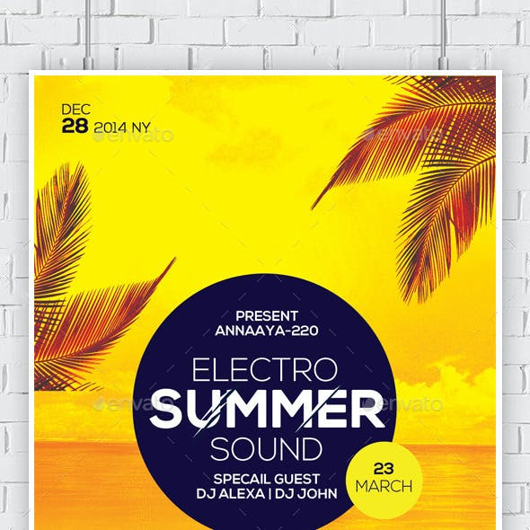 Summer House Flyers Bundle Template