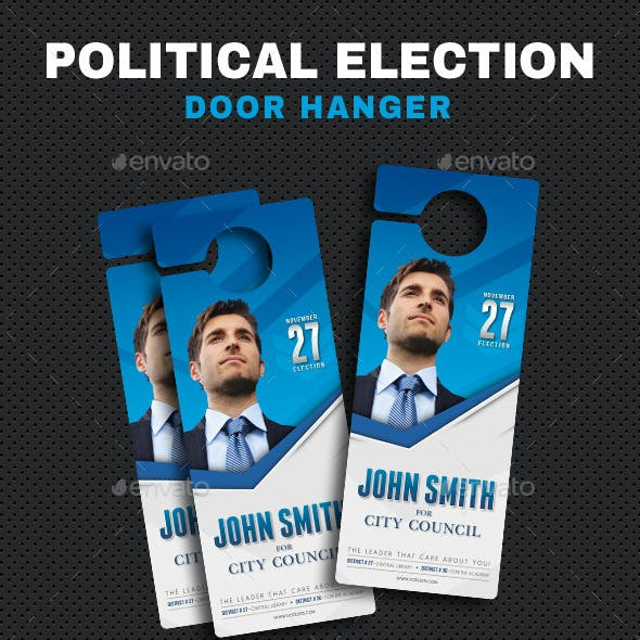 Political Election Door Hanger V01