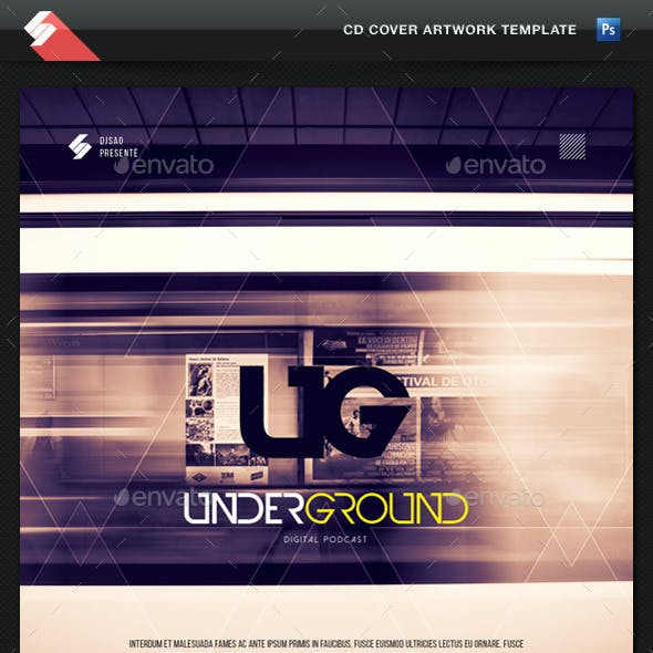 Underground - CD Cover Artwork Template