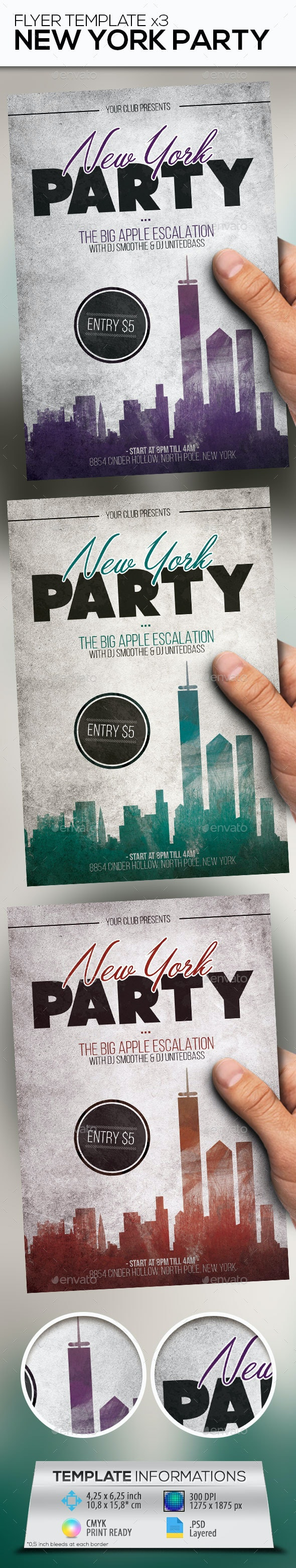 New York Party Flyer Template - Events Flyers
