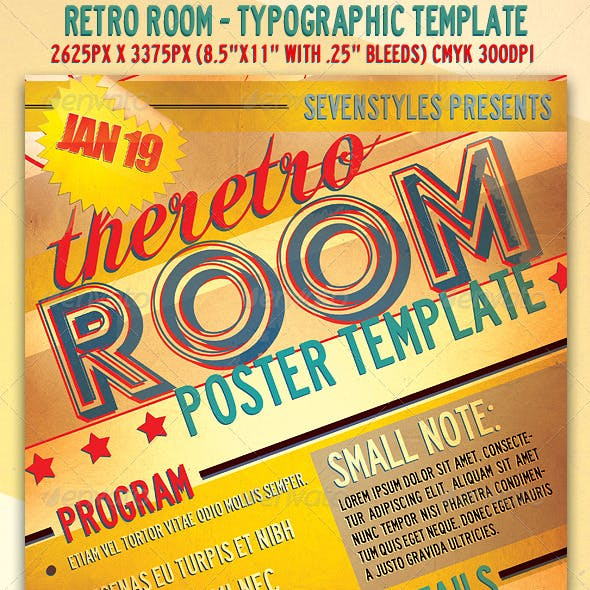 RetroRoom Flyer/Poster Template.