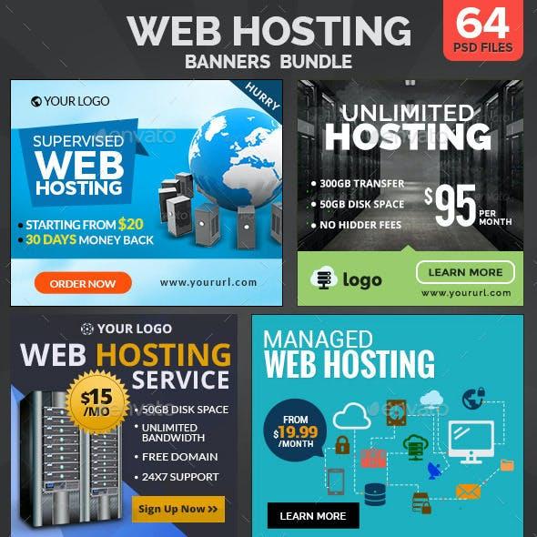 Web Hosting Banners Bundle - 4 Sets