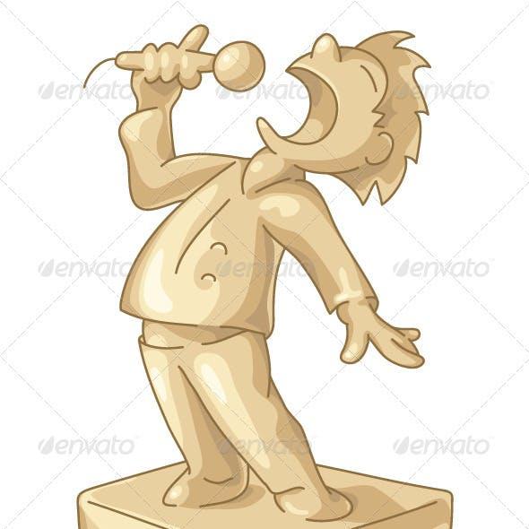 Golden Statuette of the Best Singer