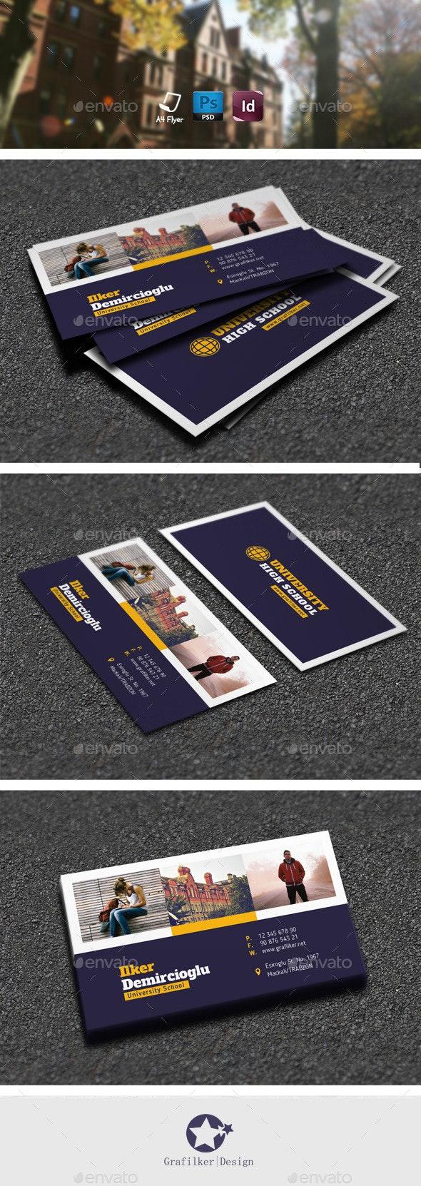 School Business Card Templates - Corporate Business Cards