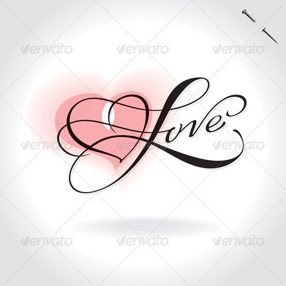 Love Hand Lettering - Valentines Seasons/Holidays