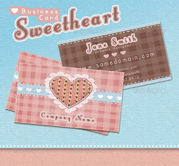 Sweetheart Business Card - Creative Business Cards