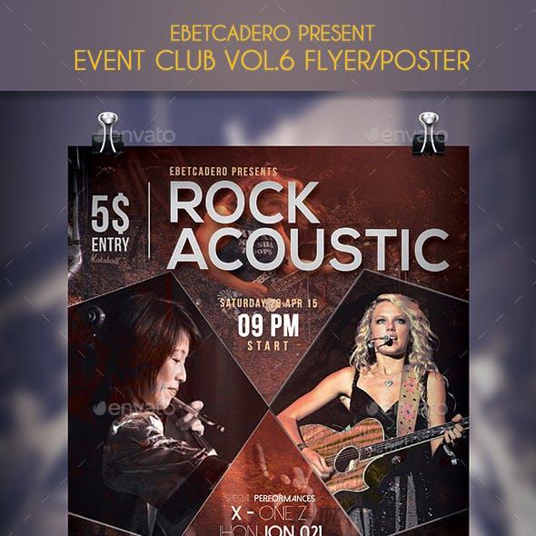 Show Rock Acoustic Event Flyer / Poster Vol.2