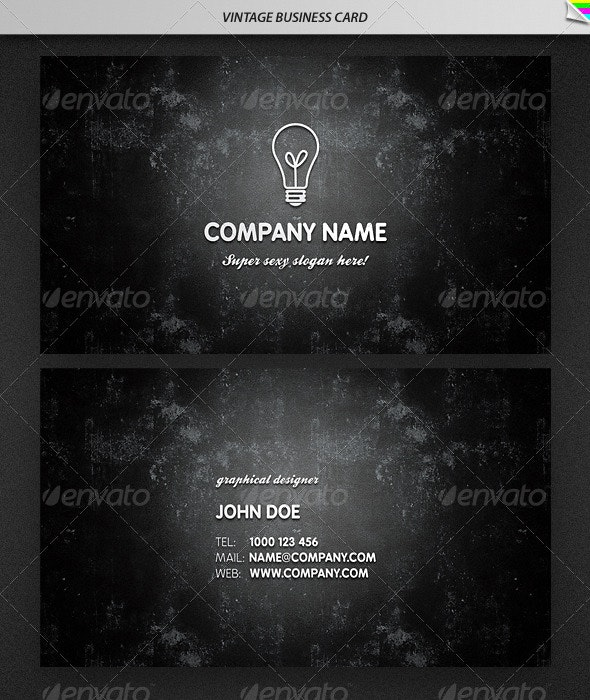 Vintage Business Card - Retro/Vintage Business Cards