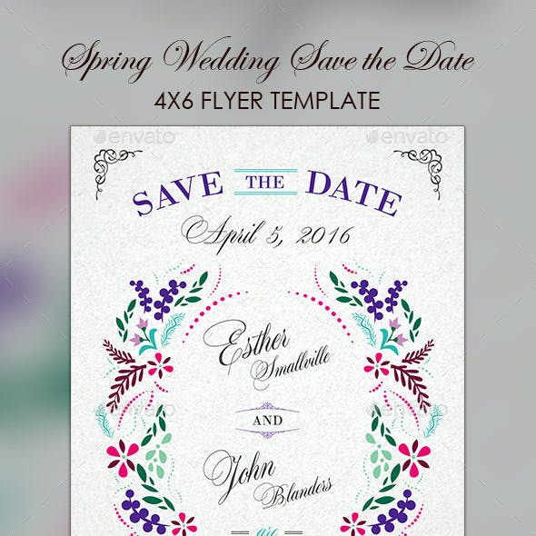 Spring Wedding Save The Date