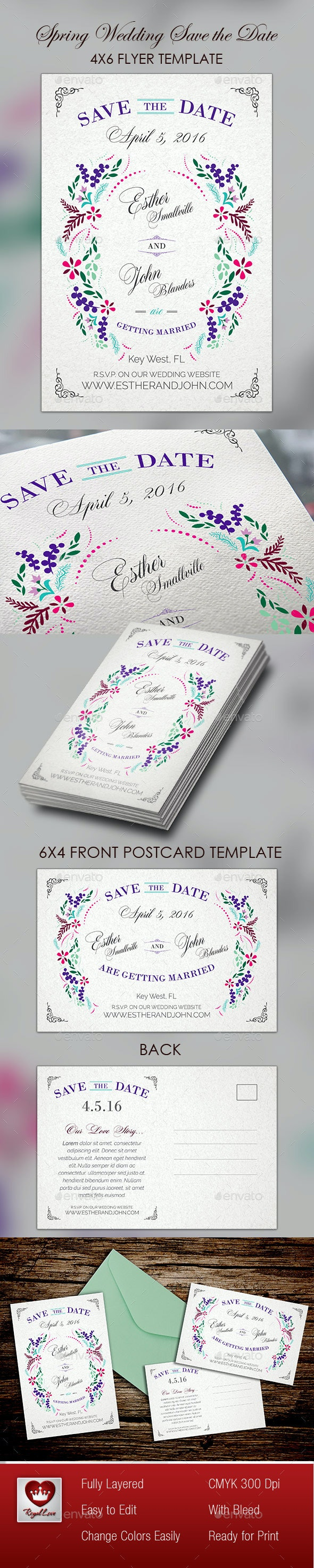 Spring Wedding Save The Date - Weddings Cards & Invites